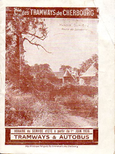 cover of June 1936 CTC timetable