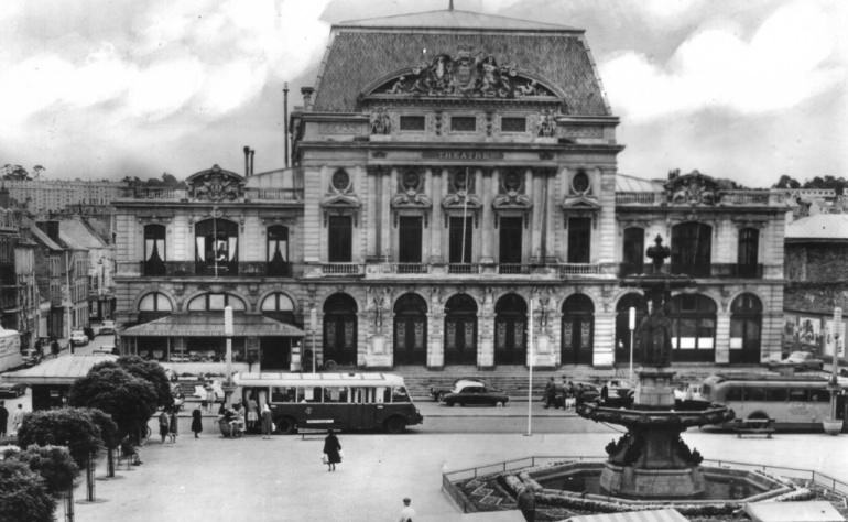 Cherbourg in front of Theatre undated picture