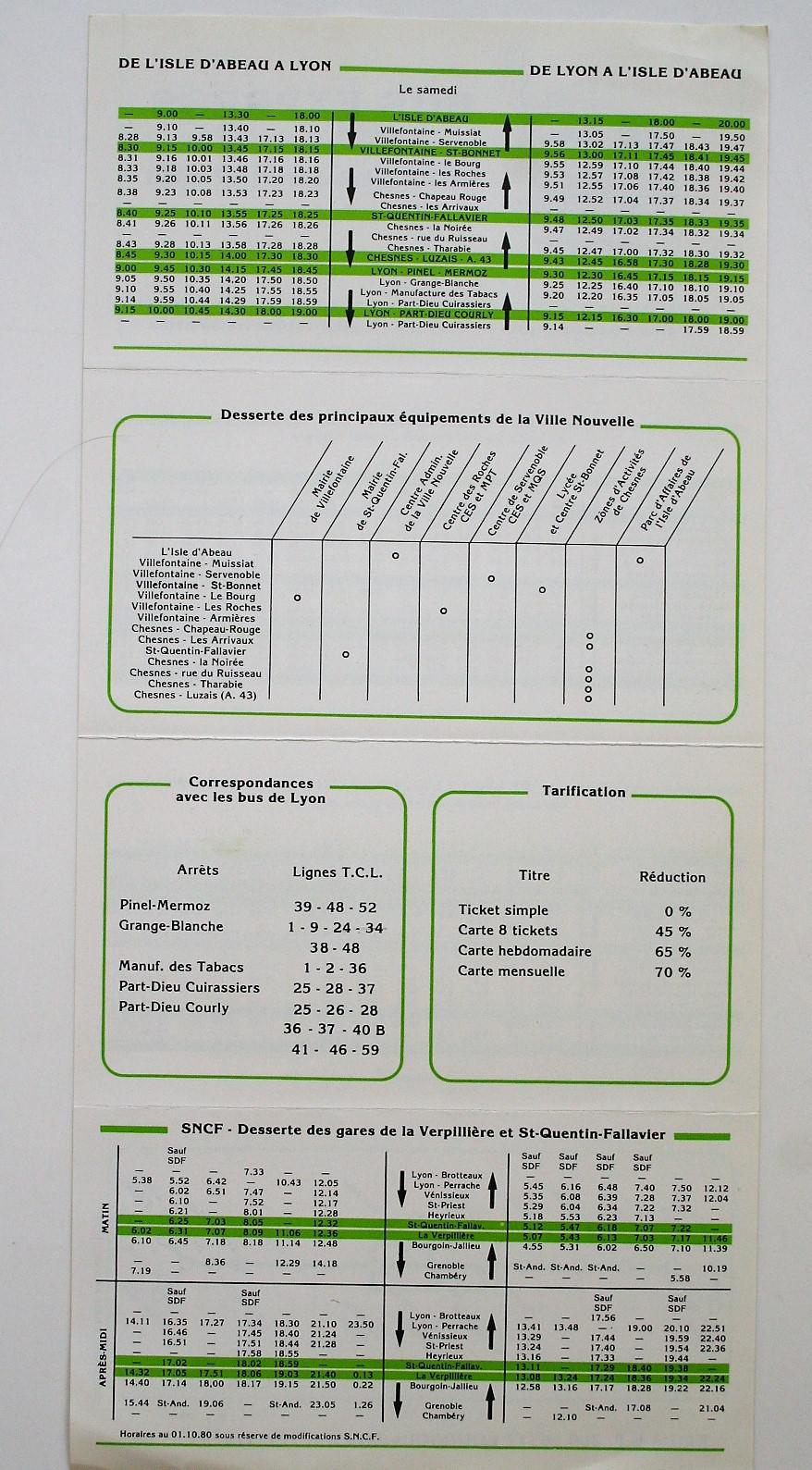 1981 timetable continued
