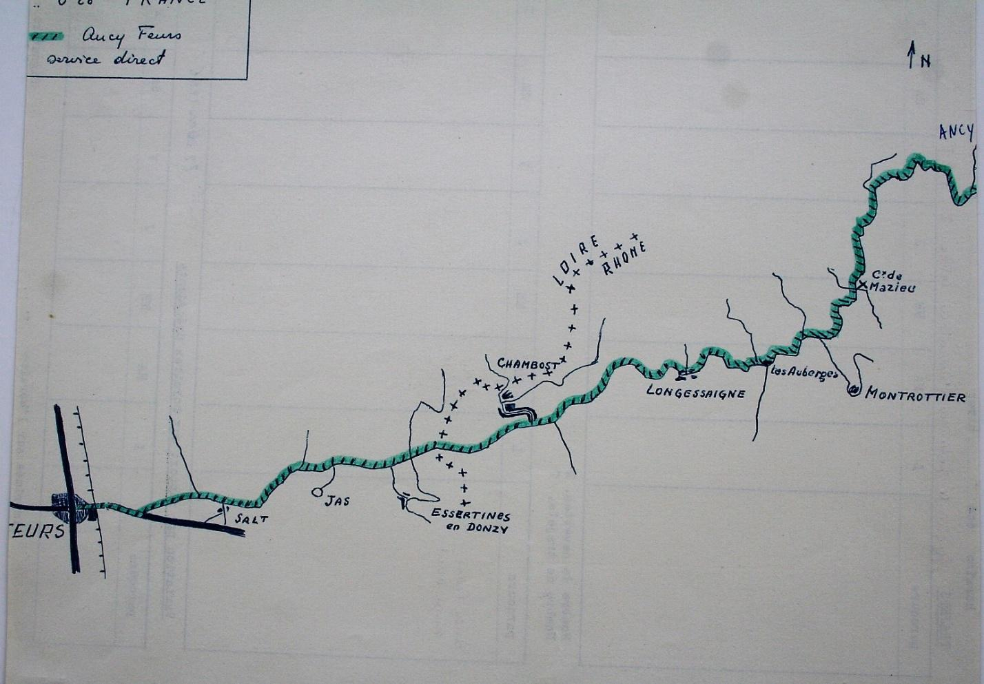 the route from Feurs to Ancy
