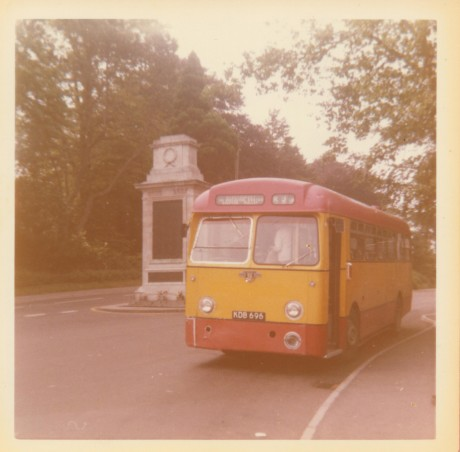 Ray's first bus at Shepton in 1973