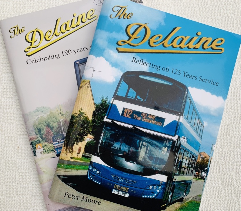 Two of Peter Moore's books about Delaine
