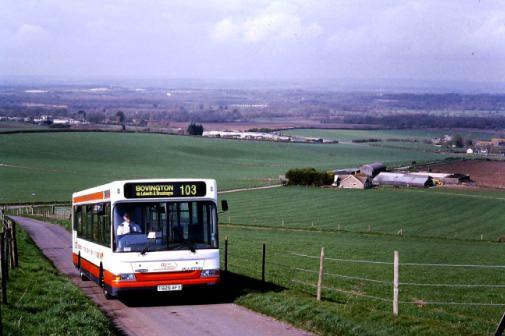Dorset Transit climbing to East Chaldon