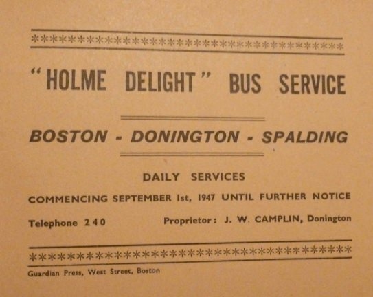 1947 timetable cover