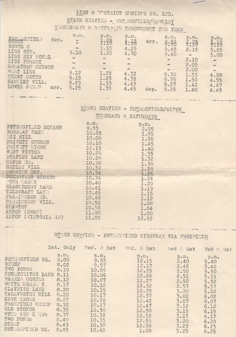 The other routes in 1964
