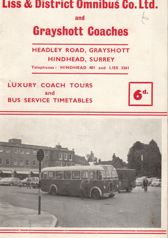cover of timetable booklet 1966