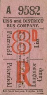 Liss & District return ticket