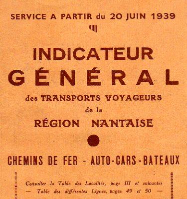 Nantes timetable 1939