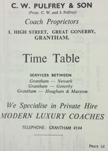 timetable cover Pulfrey