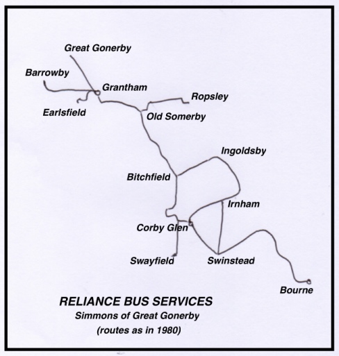 Reliance route map 1980