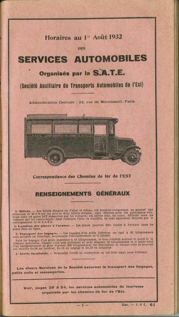 cover of 1932 SATE timetable