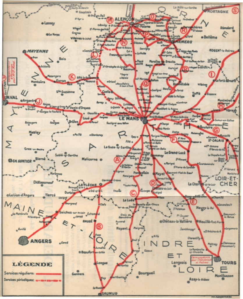 1935 STAO route map