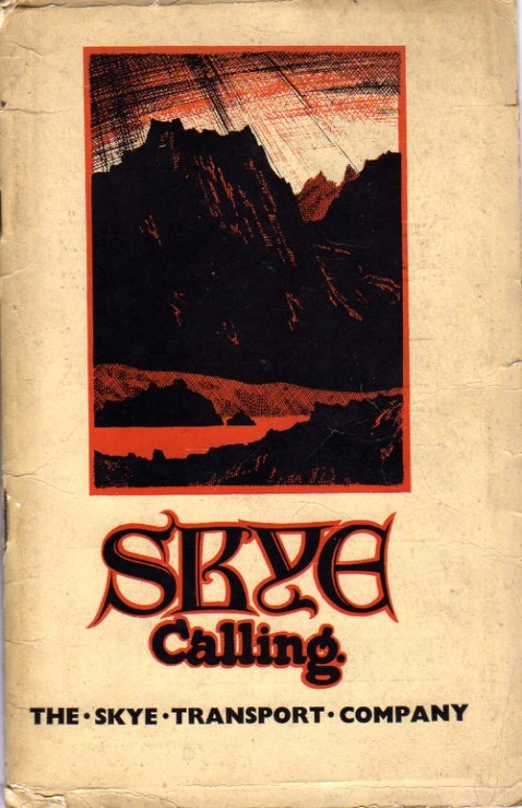 cover of 1939 Skye Transport guidebook