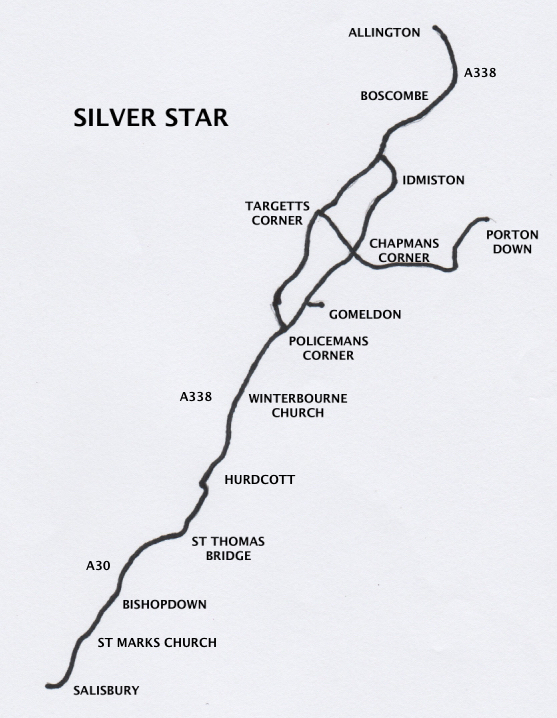 map of Silver Star route