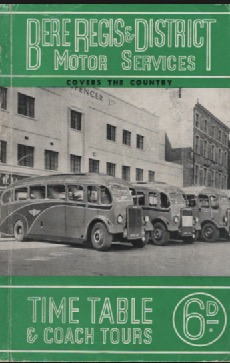 cover of  1952 timetable book