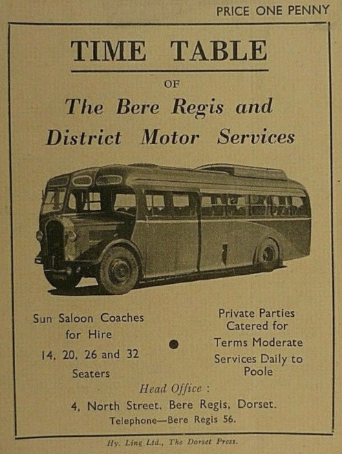 cover of 1936 timetable booklet