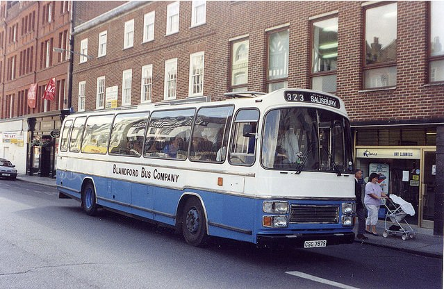 Seddon Pennine on service 323 in Salisbury 1990