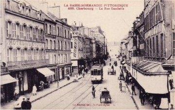 rue gambetta with tram 1915