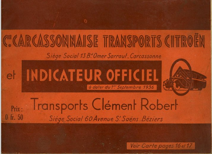 cover of 1936 timetable