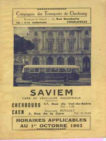 winter 1962 timetable