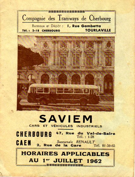 summer 1962 timetable