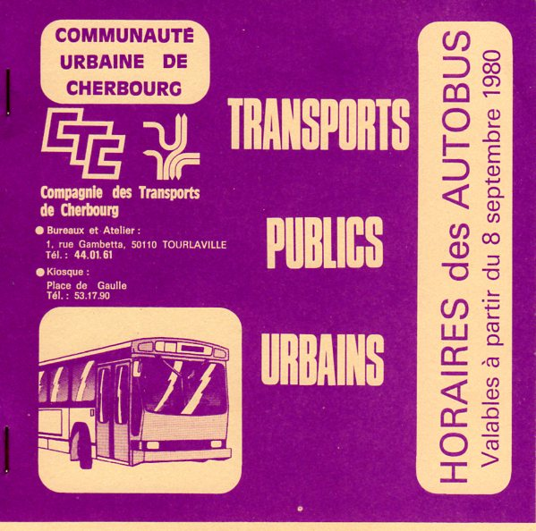 Timetable cover 1980