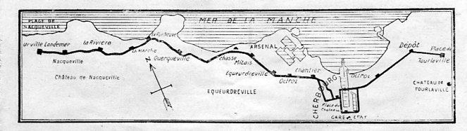 Cherbourg tram map 1925