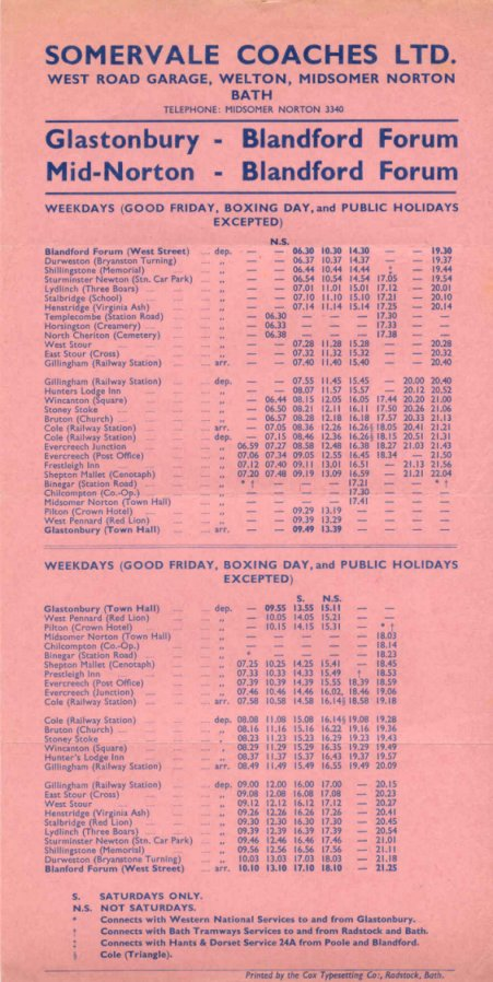 1966 timetable