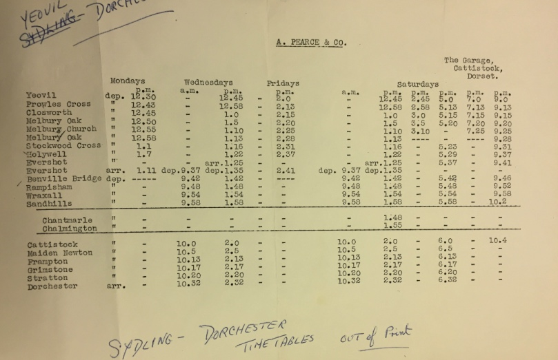 1955 timetable page two