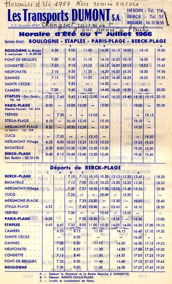 coastal route tiemtable 1966