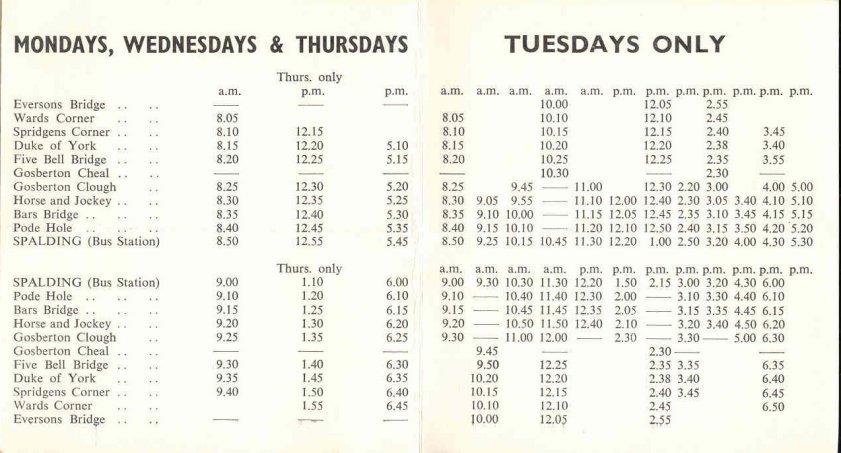 pre decimalisation timetable