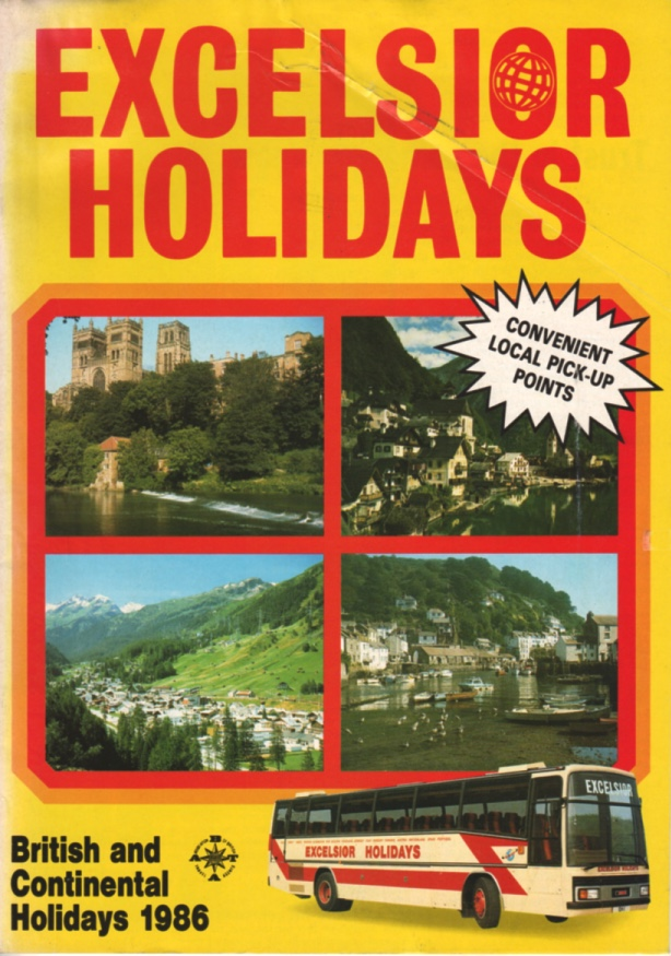 cover of 1986 Excelsior holiday tours brochure