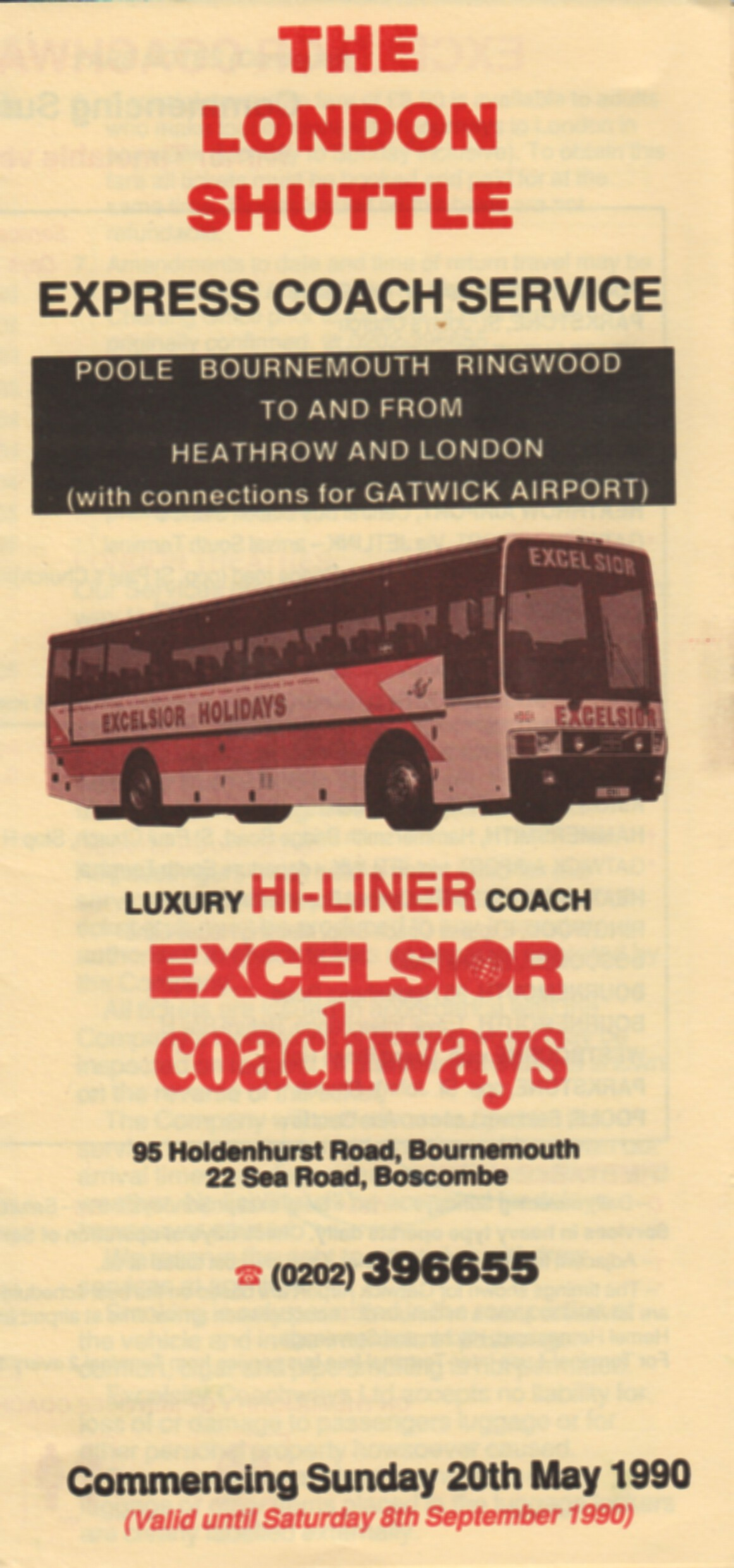 cover of 1990 London service timetable