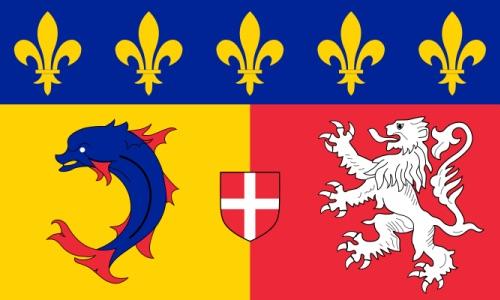 flag of Rhone-Alpes region