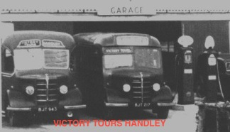 Victory Tours garage Handley