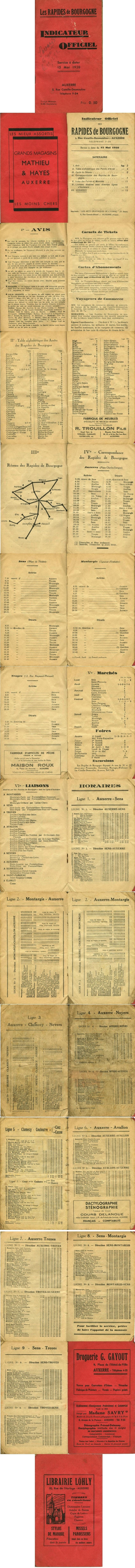 1938 timetable