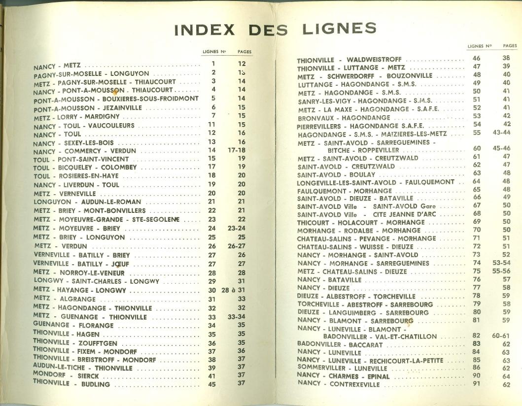 1965 route list