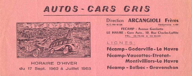 timetable 1962