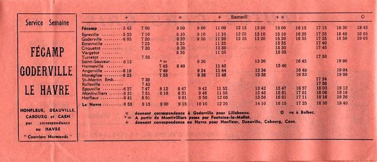 Timetable 1973 Goderville