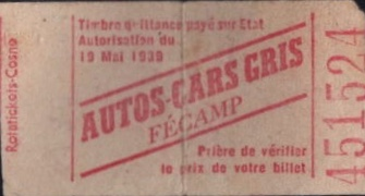 rear of ticket mentioning ticket tax paid
