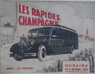rapides champagne cover 1950