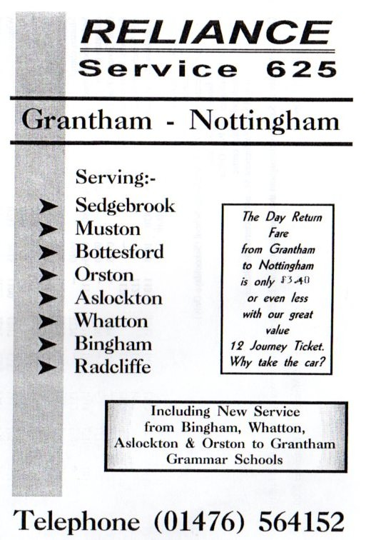 cover of 625 timetable leaflet september 2000