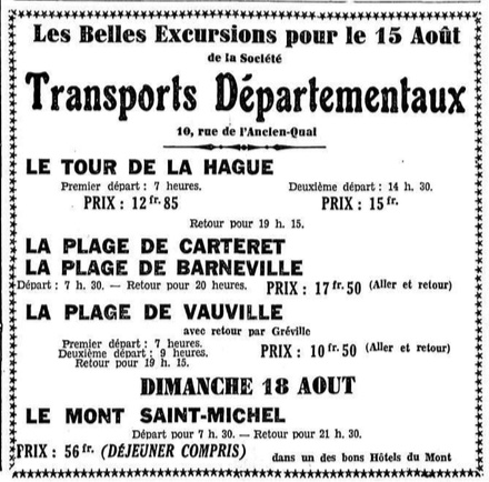 SGTD August 1935 excursions