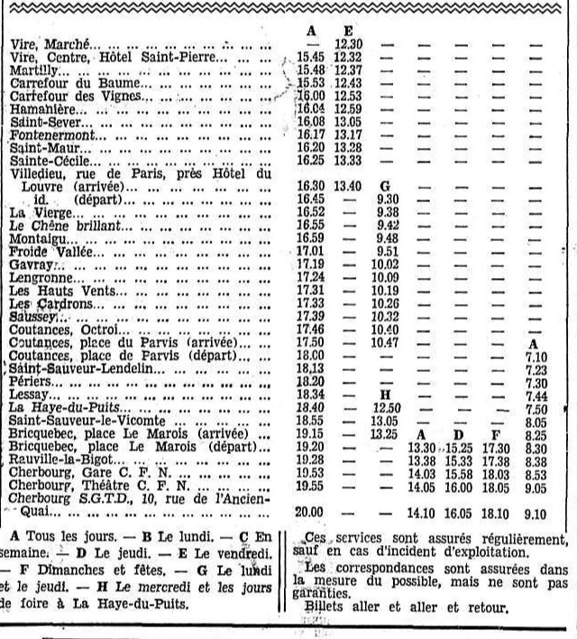 second part of February 1934 SGTD timetable