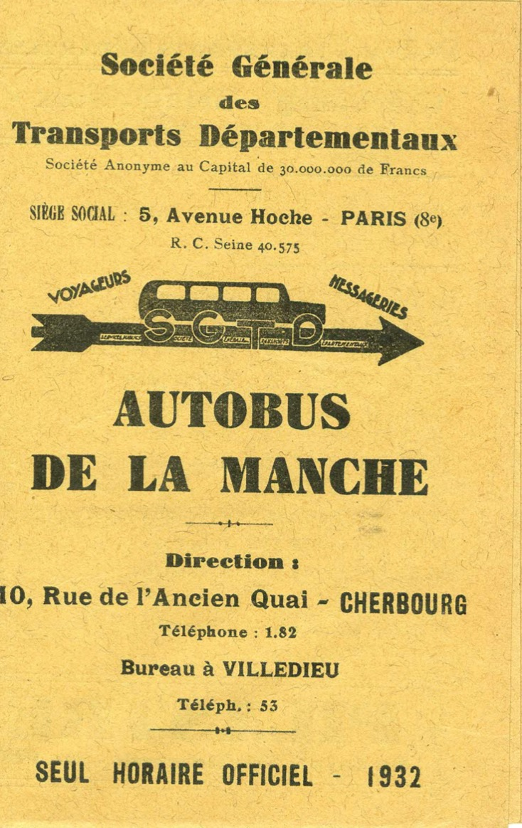 cover of 1932 SGTD timetable