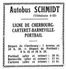 Portbail service advert July 1935