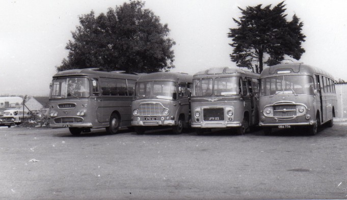 line up of four coaches