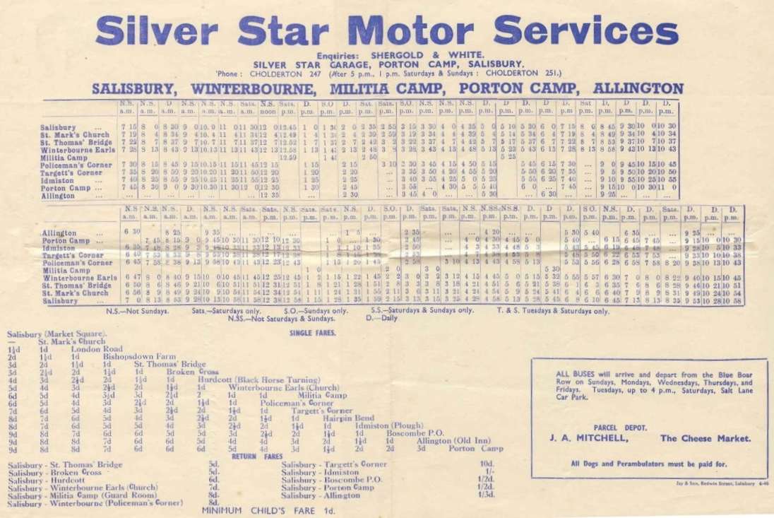 1946 Silver Star timetable - avery large file!