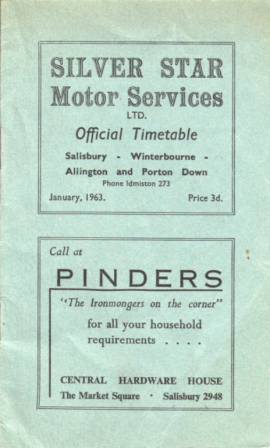 cover of the last Silver Star timetable booklet 1963