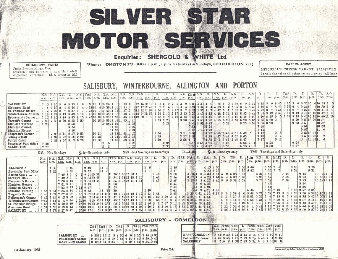 Silver Star 1953 timetable - a very large file!